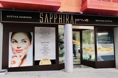 1, 3, 5 o 7 sesiones de depilación con láser diodo Sapphire en Sapphira Prive Puerta de Toledo