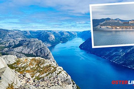 KRYDSTOGT TIL DE NORSKE FJORDE - 7-nætters krydstogt med helpension. Rejs i juni 2021.