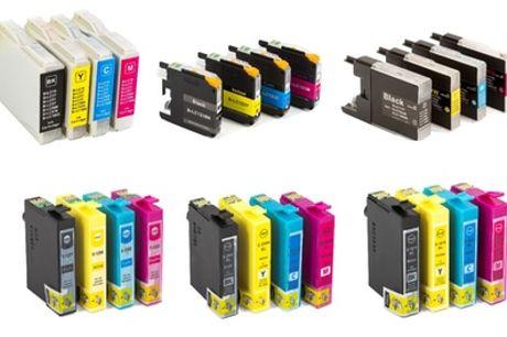 Packs de 10 cartuchos compatibles Epson o Brother en varios modelos