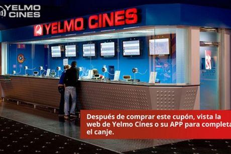 Entrada al cine en Madrid o resto de la Península en Yelmo Cines (con 34% de descuento)
