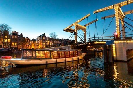 Sfeervolle avondrondvaart van 60 minuten door de Amsterdamse grachten met Amsterdam Boat Experience