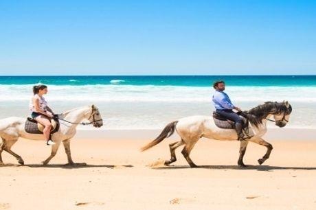 Visite o Alentejo e Passeie a Cavalo: 1 ou 2 Noites no Hotel Rural Monte da Lezíria com Pequeno-Almoço e Aula de Equitação com Passeio.