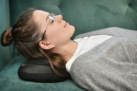 Shiatsu-massagepude. Giv hele din krop en effektiv massage derhjemme - inkl. fragt