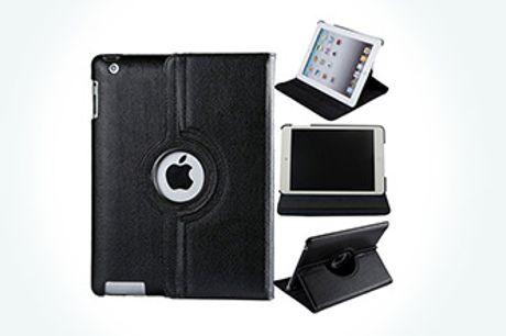 Pas godt på din iPad med et flot og praktisk cover. Fås i sort, rød, hvid og mørkeblå. Inkl. fragt