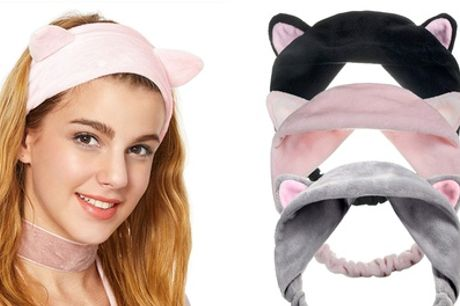 One, Two or Three Cat Ears Make-Up Headbands