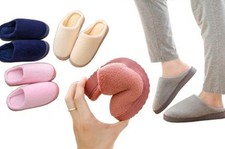 Zapatillas de casa de felpa cálidas y antideslizantes