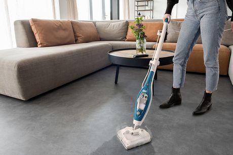 Luxe stoomreiniger Deze handige stoomreiniger van Umuzi Cleaning maakt oppervlakken hygiënisch schoon, zonder gebruik van chemische stoffen, maar door middel van stoom.
