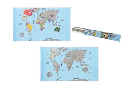 £7.99 instead of £19.99 for a scratch-off world map poster from London Exchain Store - save 60%