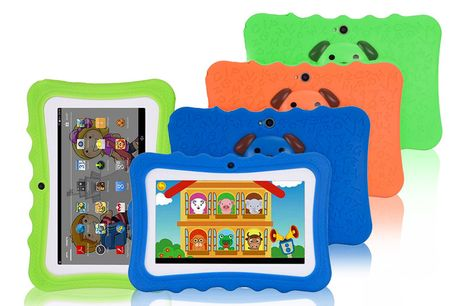 £34.99 instead of £100 for a children's learning tablet with a limited number of tablets for £29.99 in blue, orange or green from Huundo-P - save 70%