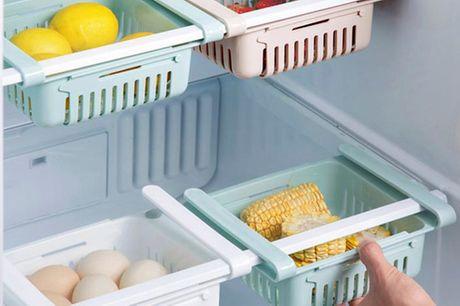 Justerbare køleskabs-skuffer. Udnyt pladsen bedre, og få helt styr på maden i dit køleskab (inkl. fragt)