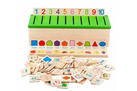 £10.99 instead of £39.99 for a kids wooden classification box from Backtoogoo – save 73%