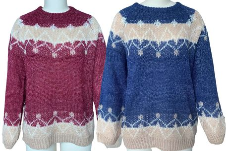 £12.99 instead of £39.99 for a women's cosy knitted sweater in UK sizes 10-18 from Domo Secret - save 68%