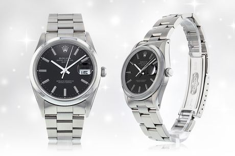 £5 for one entry into the prize draw to win a Rolex Oyster Perpetual date watch or £10 for three entries into the prize draw from Brand Arena