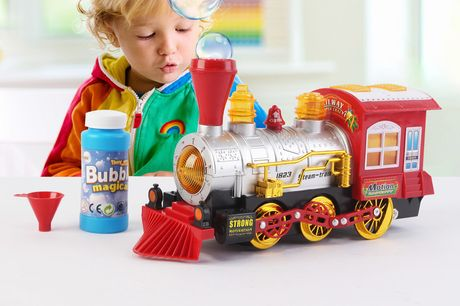£12 for a kid's bubble blowing toy train!