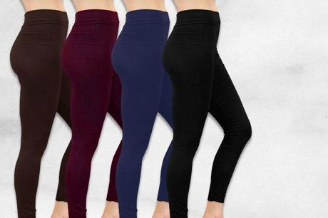 £1 for four pairs of fleece-lined leggings - choose from five different options!