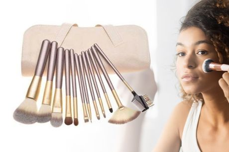 £8.99 instead of £22 for a 12pc Champagne Makeup Brush Set from Forever Cosmetics - save 59%