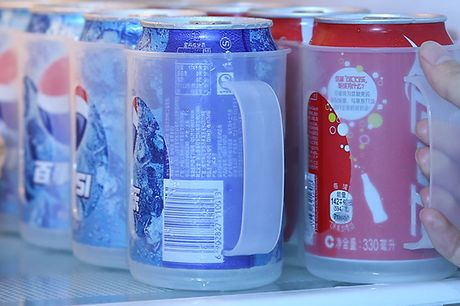 Space-Saving Fridge Can Storage Box     Each storage box contains room for 4 standard cans or bottles     With holes at the bottom to avoid condensation and spillages     Transparent materials mean you can see the drinks inside at a glance     Stack i