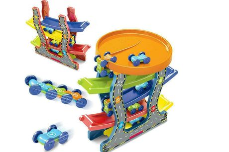 £8.99 for a colourful car track toy for kid's from CNDirectBiz!