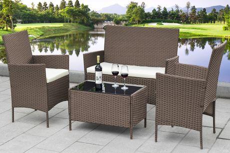 £119 for a four-piece rattan garden furniture set!