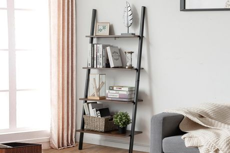 £39 instead of £151.99 for a contemporary four-tier ladder bookshelf from Costway - save 74%