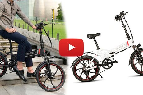 "2020 Top Moderne Elektrisk Cykel - 20"" El Cykel, 350W Motor - 60 km Rækkevidde"