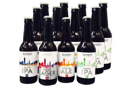 £19 instead of £30 for a 12-bottle mixed case of tasting range beer from Glasgow Beer Works - save 37%