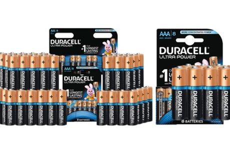 Up to 40 Duracell Ultra Power AA or AAA Alkaline Batteries