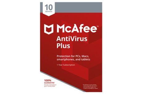 McAfee AntiVirus Plus - 10 apparaten voor 1 jaar