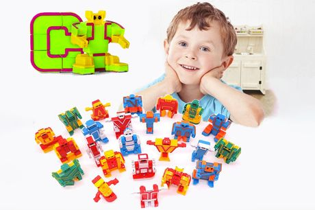 £22.99 for 26-piece letter-shaped robot action hero set from Secret Storz!