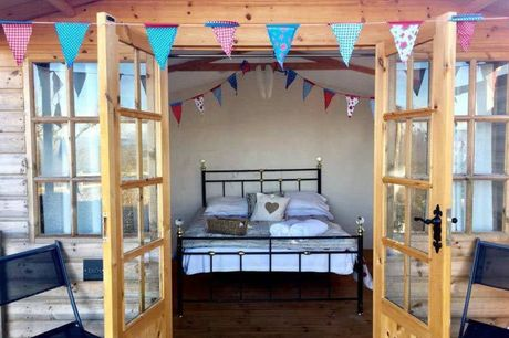 A Shropshire glamping stay at Abel's Harp for two people with hot tub access, alpaca feeding experience and a complimentary croissant breakfast. £59 for one night, £89 for two nights, £119 for three nights or £149 for four nights - save up to 30%