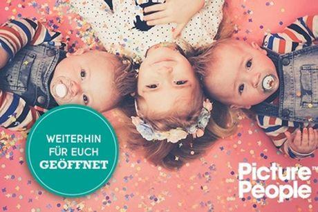 Kids-Friends-Fotoshooting bei PicturePeople inkl. 2-4 Bildern und Konfettiregen-Special (bis zu 74% sparen*)
