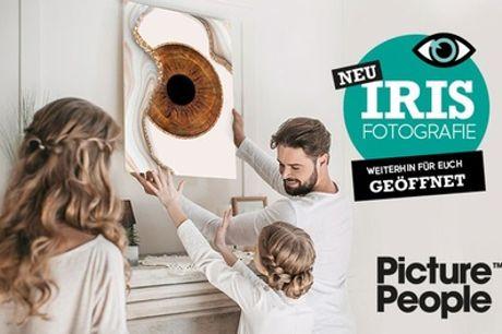 IRIS-Fotoshooting inkl. Ausdruck - Picture People & optional Spezialeffekt / Design (bis zu 78% sparen*)