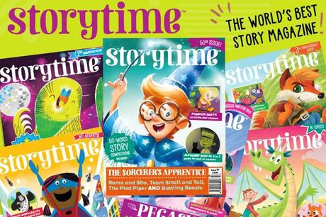 £9.99 instead of £19.99 for a six-month subscription to Storytime Magazine - save 50%