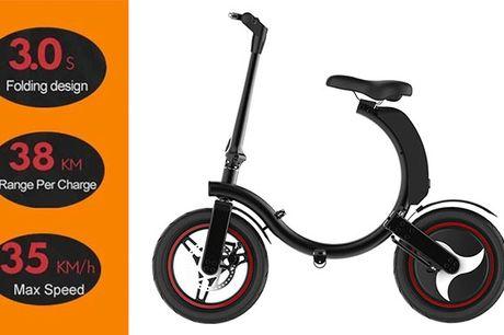 Sammenfoldeligt el-løbehjul med komfortabelt sæde - 350W børsteløs motor, 60 km rækkevidde