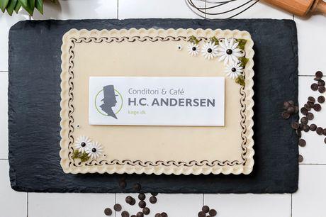 Personlig konditorkage i særklasse. Fra Conditori & Café H.C. Andersen - vælg ml. 3 varianter