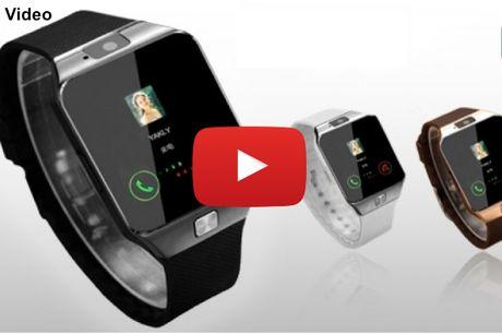 Bluetooth smart-ur med touch og indbygget kamera