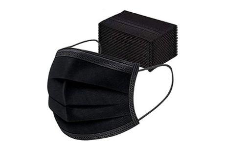1 o 3 pack de 50 mascarillas desechables de 3 capas negras