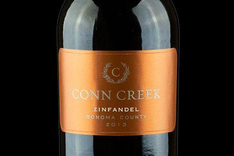 Conn Creek Winery, Zinfandel 2013. Conn Creek Zinfandel er en fyldig rødvin, produceret af druer hentet fra en række marker i Sonoma County, særligt fra Dry Creek and Alexander Valley. Vinen har en frugtpræget smag med hindbær og brombær og noter af peber