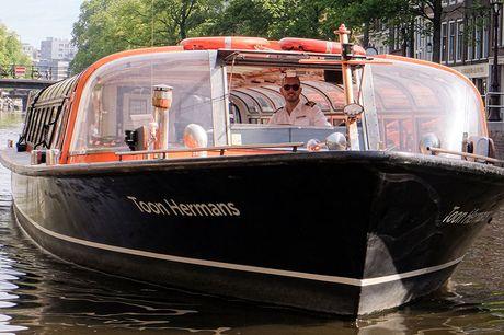 Rondvaart door Amsterdam Elke dag & vlak bij Amsterdam Centraal  1 uur door de grachten varen  Geldig t/m 30 juni 2021