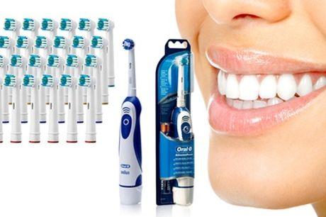 Cepillo de dientes eléctrico Braun Oral B Advanced Power 400, con 24 cabezales de repuesto compatibles con Oral B