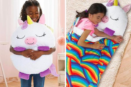 £19.99 instead of £89.99 for a 2-in-1 cuddly toy and blanket in white or pink from Top Good Chain - save 78%