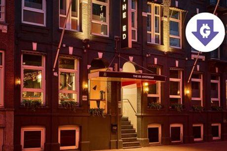 Nabij Vondelpark: standaard tweepersoonskamer voor 2 personen, naar keuze met ontbijt in The ED Amsterdam