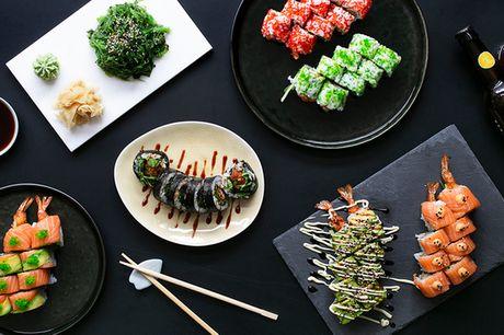 Hent 46 stk. sushi. Få nem og lækker aftensmad hos Shibuya Sushi