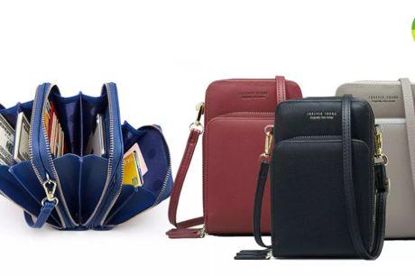 Mobiltaske med praktiske lommer og stilfuldt design i PU læder
