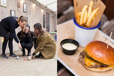 Petanque og burger. Saml vennerne/familien til en sjov aften på toppen af Kbh