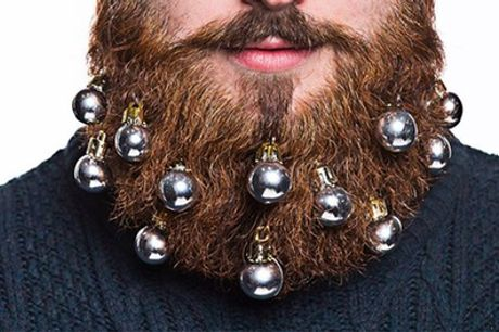 One or Two Nine-Piece Bristlr Beard and Moustache Bauble Sets
