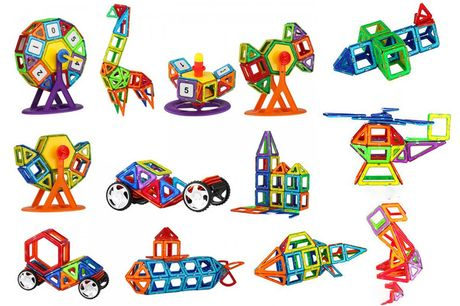 £19.99 instead of £39.99 for a 64-piece set of magnetic shapes or £24.99 for a 95-piece set from Backtogoo - save up to 50%