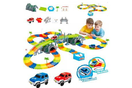 £12.99 instead of £39.99 for a kids' 96pcs car race track set, £19.99 for a 144pcs set from Backtogoo - save up to 68%