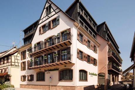 Fachwerk-Romantik im historischen Elsass - Kostenfrei stornierbar, Le Colombier Hotel, Obernai, Elsass, Frankreich - save 42%