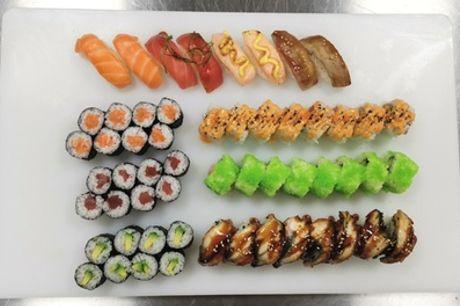 Noord: sushibox van 56 of 96 stuks om af te halen bij Toki Sushi and More aan het Buikslotermeerplein